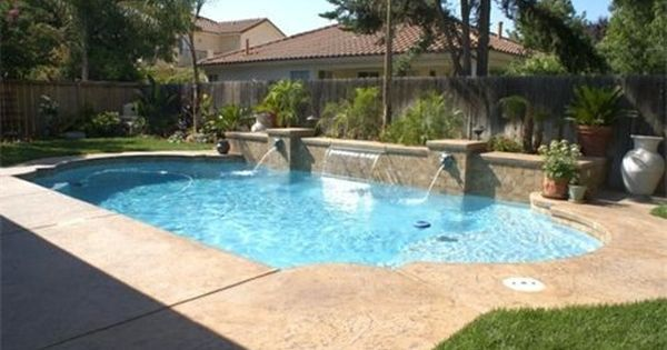 Water wall feature with roman shaped pool ultimate pools for Water pool design
