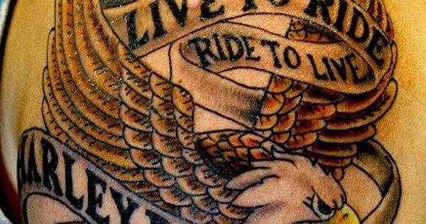 Live To Ride Biker Tattoo Harley Davidson Pinterest