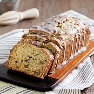 Zucchini Bread With Buttermilk Lemon Glaze Receta Bizcocho