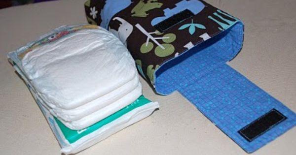 DIY diaper/wipe case great gift idea!