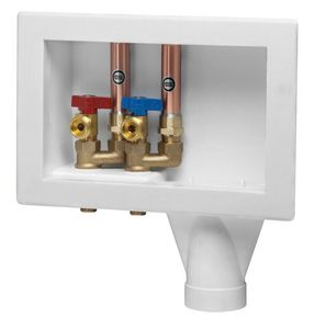 Oatey 1 4 In Turn Pex Washing Machine Outlet Box 38562 Ferguson Laundry Room Remodel Basement Laundry Room Basement Laundry