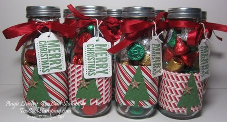 Merry Christmas Quick Christmas Candy Jars Too Cool Stamping Christmas Candy Jars Christmas Jars Diy Christmas Candy