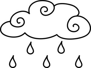 Coloring Pages Clipart Image Raindrops Falling From A Cloud