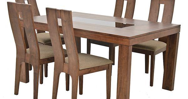 Juego de comedor russel 6 sillas amelia for Comedores falabella
