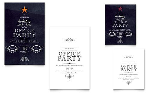 Christmas Party Invite Design Office Party Invitations Party Invite Template Christmas Party Invitation Template