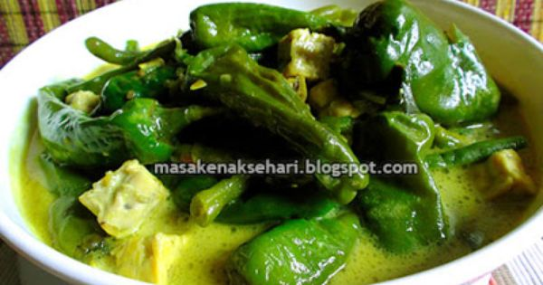 Resep Kuah Lontong Sayur Cabe Hijau Aneka Resep Masakan Sederhana Sehari Hari Resep Masakan Masakan Resep Masakan Indonesia