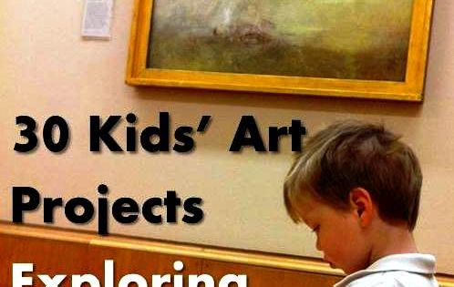 the great artists kids project from Red Ted Art