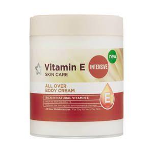 Superdrug Vitamin E Intensive All Over Body Cream 475ml Vitamin E Body Cream Vitamin F