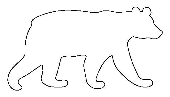 black bear pattern use the printable outline for crafts