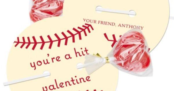 Baseball Valentine Idea... Cute idea for the boys in the class