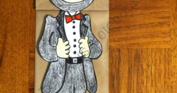 Abraham Lincoln Paper Bag Puppet Product From Melissas