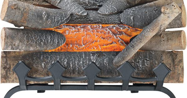 Man Cave Ideas Walmart : Pleasant hearth electric log with grate natural wood