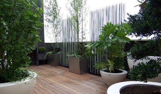 Am nagement de terrasse urbaine brise vue design outdoor pinterest - Terrasse exotique et depaysante ...
