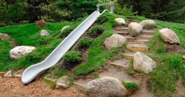 how to build an outdoor slide