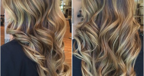 Blonde balayage on brown hair. Perfect summer color ...