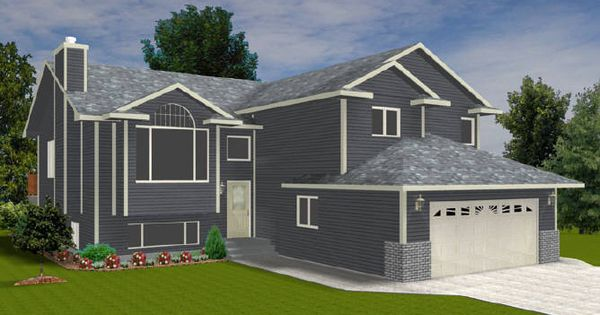 Bi Level With With A Garage 2009436 By E Designs House