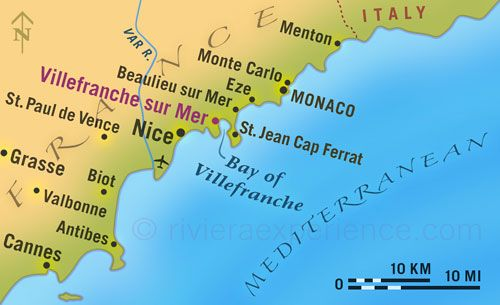 From Nice To Monte Carlo Illustrated Map France Map