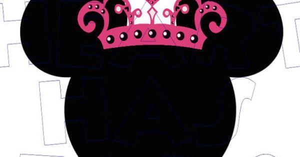 Printable Diy Princess Tiara Minnie Mouse 2 By