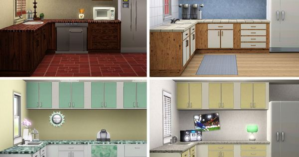 Sims 3 download simple kitchen counters islands for Sims 3 kitchen designs