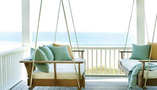Hello beach house -- Front Porch swing -- LOVE.