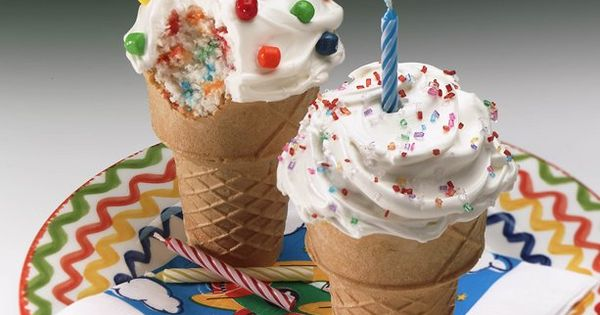 Ice Cream Cone Cupcakes: A creative twist on the traditional birthday cake.