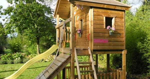 spielhaus kinderspiele garten rutsche fenster blumen kletterwand garten pinterest. Black Bedroom Furniture Sets. Home Design Ideas