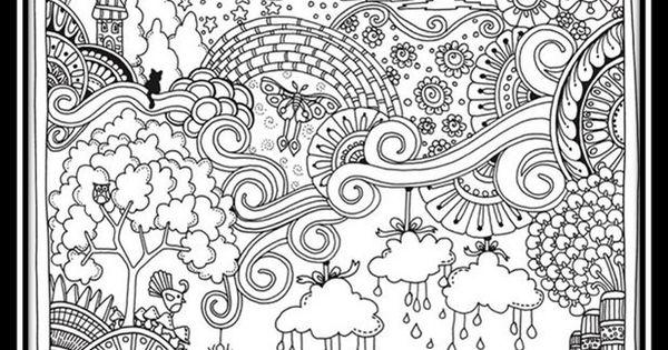 Mandalas Para Adultos Para Colorear De Paisajes Dibujos Para Colorear