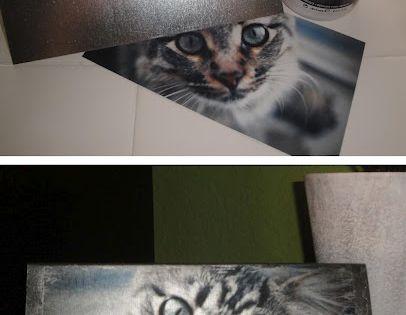 "photo transfer to metal plate using inkjet printed photo: ""Gel Medium (bought"
