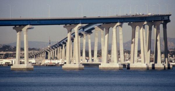 The Coronado Bridge In Coronado San Diego California Being Almost Half As Tall As The Tallest Buildings A Coronado Bridge San Diego Travel Coronado San Diego