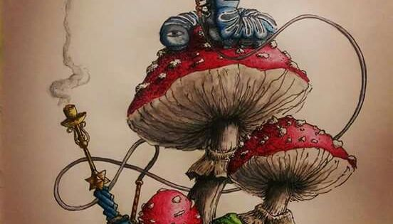 Alice in wonderland - mushroom | Alice's tea party ...