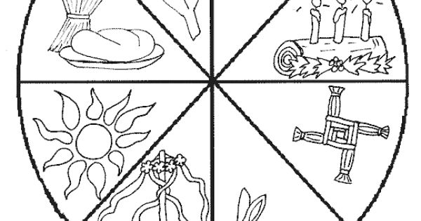 The Wheel Of The Year Coloring Page