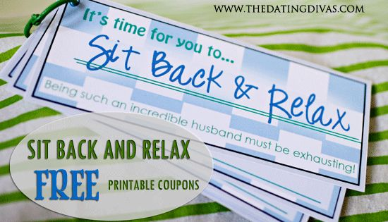 Sit Back and Relax coupon book and gift basket