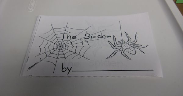 The spider and the fly writing activities