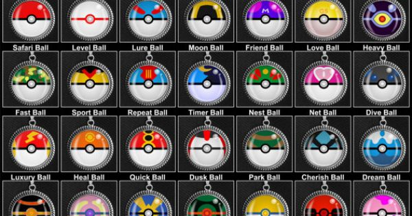 All The Different Pokeballs Necklaces On Etsy For 10 Each