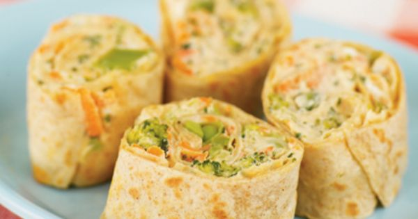 Healthy Snack - Veggie pinwheels, healthy and kid friendly snack!