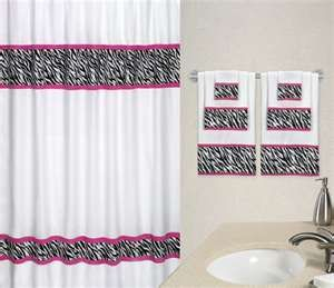 Zebra Print And Pink Bathroom Set Zebraprintbedding Pink