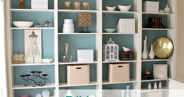 DIY bookshelves - IKEA Billy book shelves