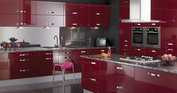 Burgundy Kitchen Color Home Pinterest