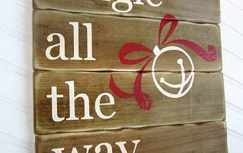 Jingle All the Way Holiday Sign -- Add Holiday Color and Cheer