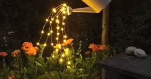 """Watering can """"pouring lights""""... Have to make this ..."""
