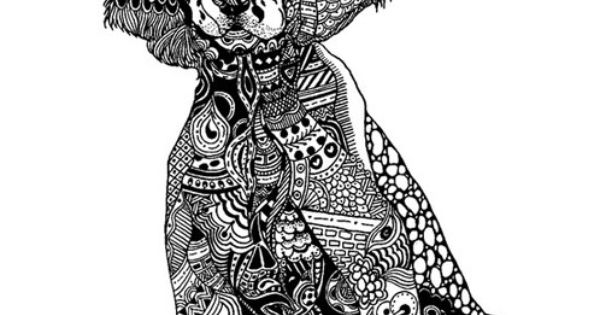 English springer spaniel zentangle cats dogs for English springer spaniel coloring pages