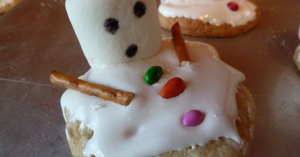Melting Snowman Cookies for 3rd grade class treats at the ...