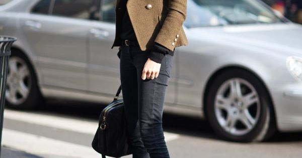 Love that coat! - Geraldine Saglio, French Vogue Editor