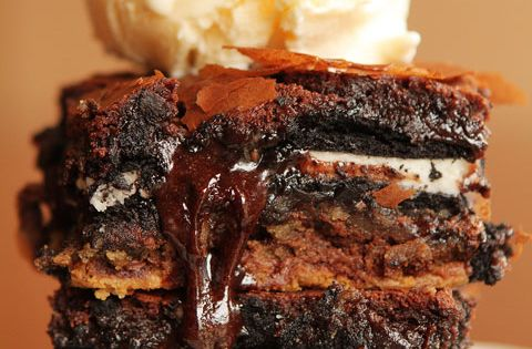 chocolate chip cookie dough oreo brownie bar