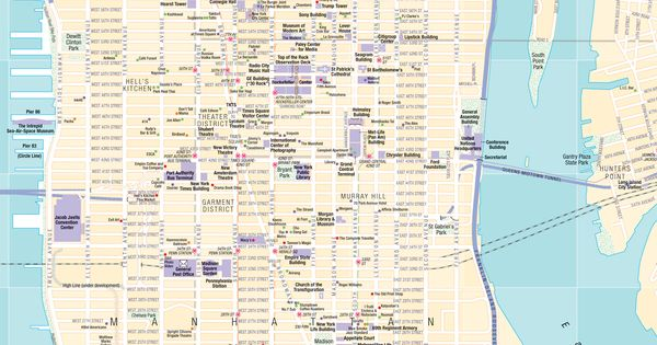This is an interactive NYC movie guide. Click on the dot and