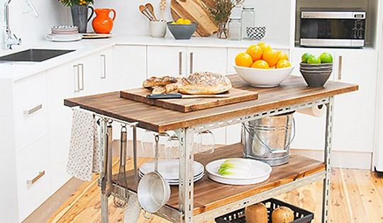 Diy Idea Build Your Own Kitchen Island Cart Better Homes And Gardens Kitchen Island Cart