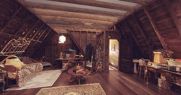Charmed Attic Interiors Pinterest Attic Tvs And House