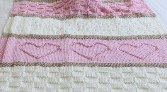 Free Knitting Patterns For Lap Blankets : Homemade Crochet Heart Blanket Free Knitting Pattern - Lap Blanket, Teddy Bea...