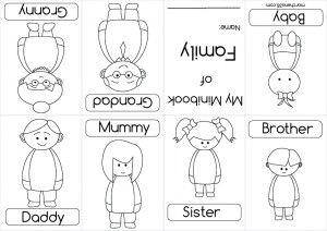 Preschool Family Printables Mini Books Preschool Family Family Worksheet