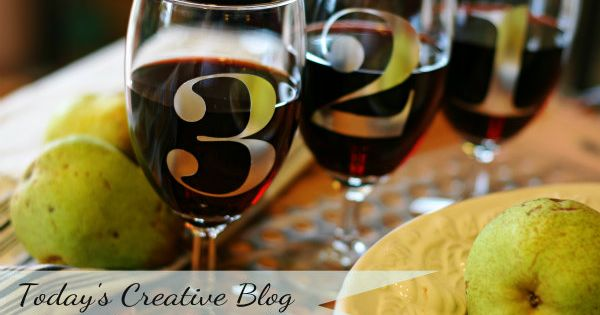 DIY wine glass charms | vinyl wine glass markers.